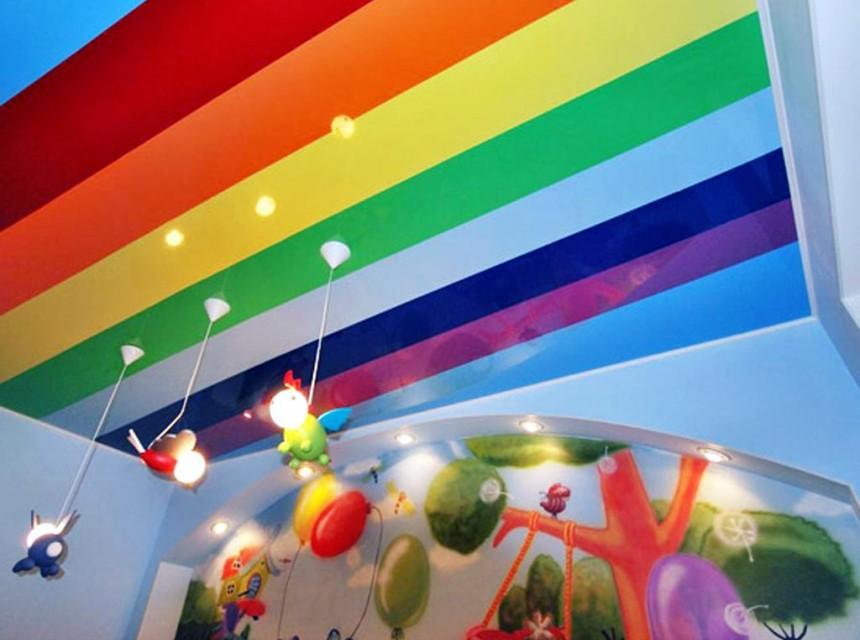 Натяжной потолок радуга- цветной