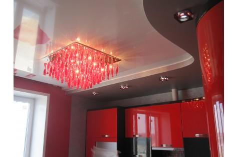 Французский натяжной потолок на кухню