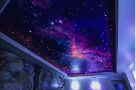 Натяжной потолок «звездное небо» в спальню