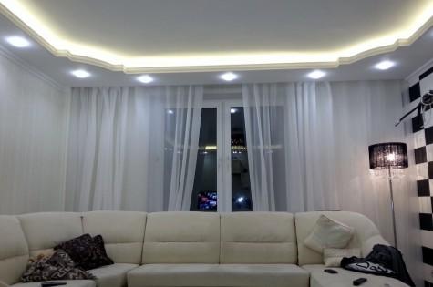 Натяжной эко-потолок белый