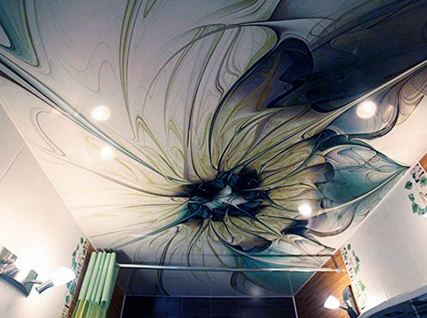 Натяжной художественный эко-потолок