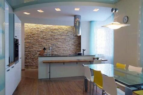 Натяжной потолок в кухню матовый