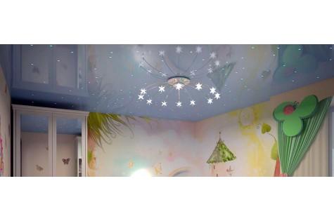 Натяжной потолок в детскую звездное небо