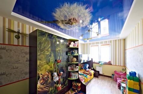 Натяжной потолок в детскую одуванчик