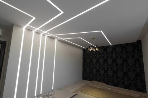 Светодиодный натяжной потолок белый