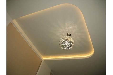 Светодиодный натяжной потолок двухуровневый