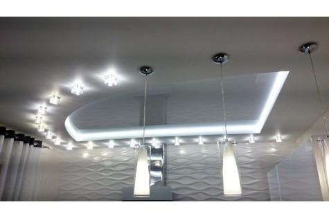 Светодиодный натяжной потолок в зал