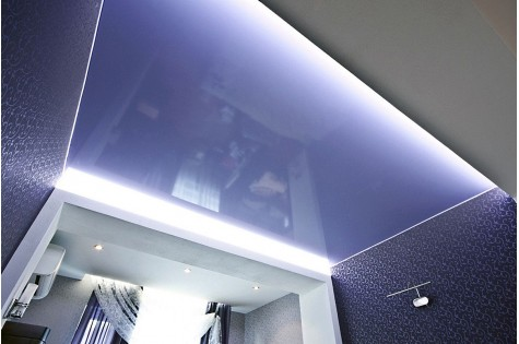 Светодиодный натяжной потолок глянцевый