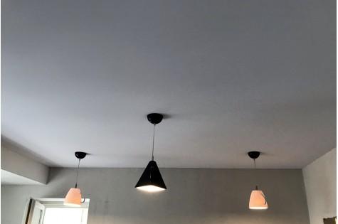 Тканевый натяжной потолок в гостиную